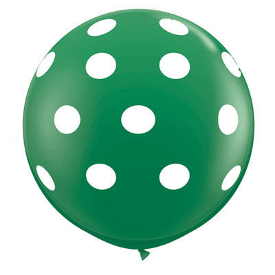 "36"" Round Polka Dot Balloon - Green"