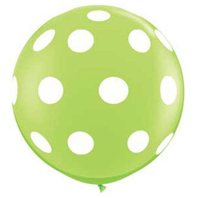 "36"" Round Polka Dot Balloon - Lime Green"