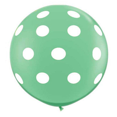 "36"" Round Polka Dot Balloon - Mint Green"