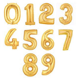 "Mini 7"" Metallic Foil Number Balloon"