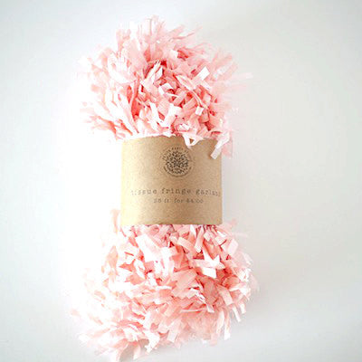 Tissue Paper Fringe - Light Pink
