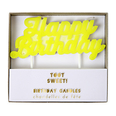 Candle | Happy Birthday Yellow