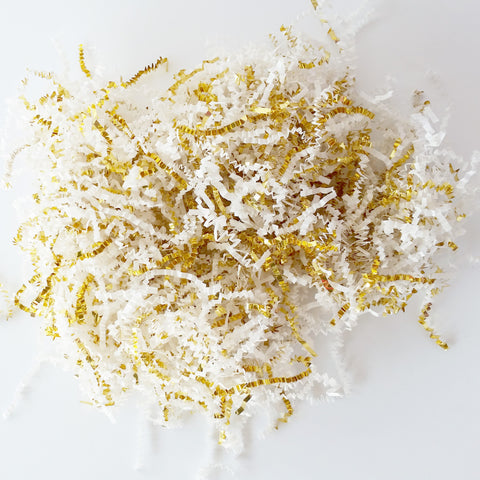 Gold & White Shredded Paper