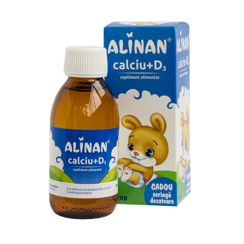 Alinan Calciu+D3, sirop 150ml, Fiterman Pharma