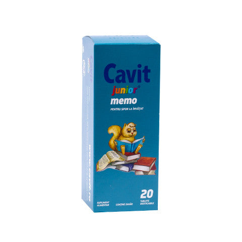 Cavit junior memo, 20 tablete, Biofarm