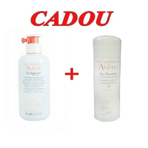 AVENE TRIXERA + SELECTIOSE GEL DUOPACK, 2 X 400 ml, PIERRE FABRE