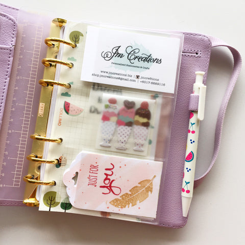 Personal Planner (A6) PVC Namecard Holder Insert