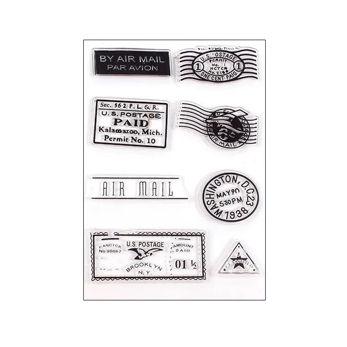 Clear Stamp - Travel Retro