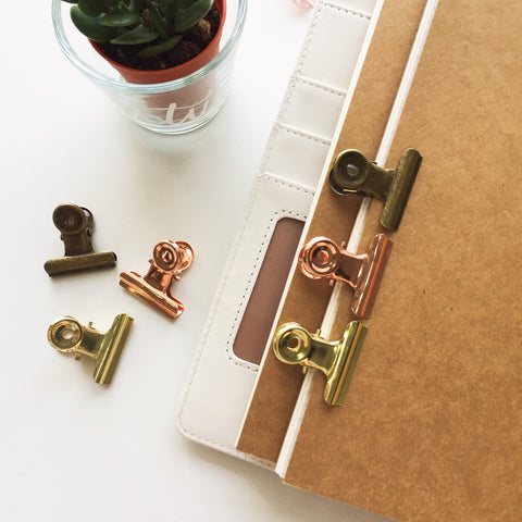 Bulldog Clips - Metallic