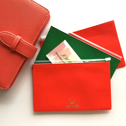 PVC Leather Zipper Pouch