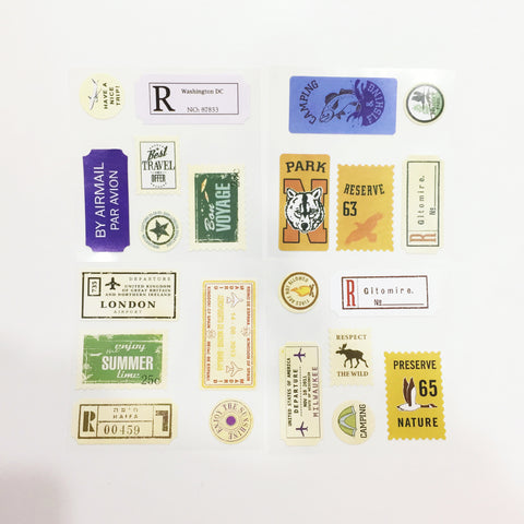 Sticker Pack (Decorative) - Vintage Travel Stamps