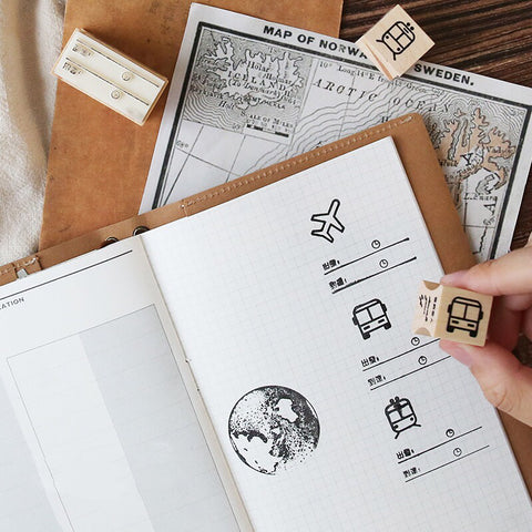 Wooden Stamp - Travel Series