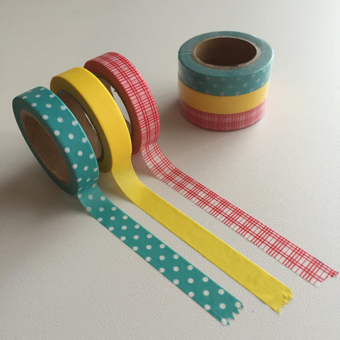 Washi Tape - 3 Slim Combo