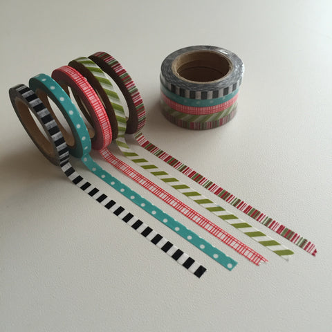 Washi Tape - 5 Slim Combo