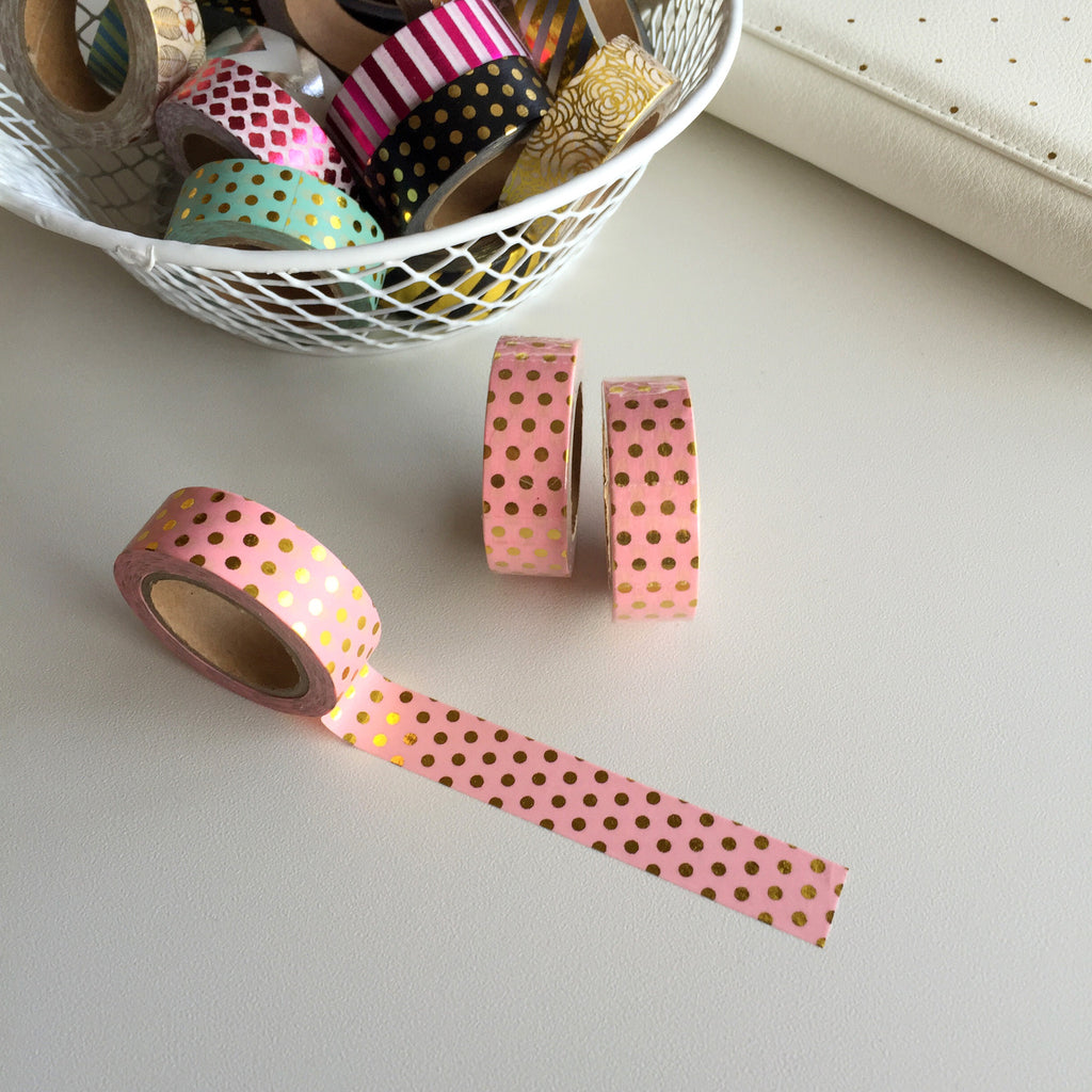 Washi Tape - Pink Polka Dots