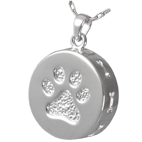Pet Paw and Bones Cremation Pendant