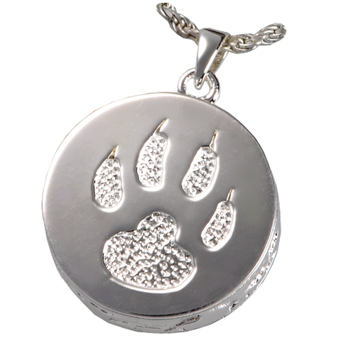 Cat Paw Cremation Jewellery Pendant