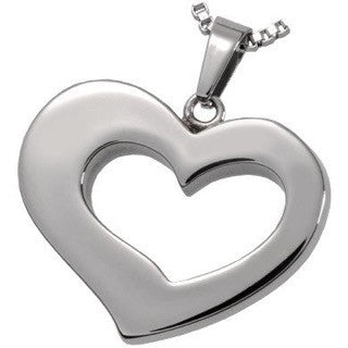 Affectionate Heart Cremation Ashes Pendant