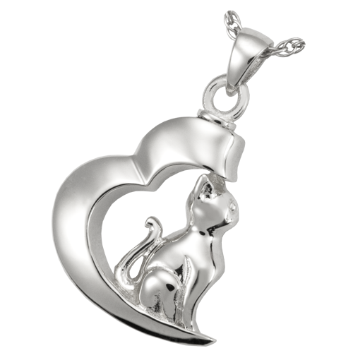Cat In My Heart Cremation Pendant