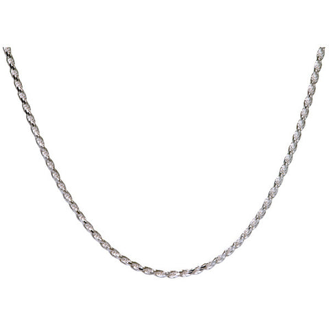 18 Inch Silver Rope Chain
