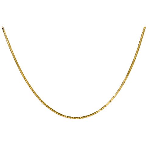 24 Inch Gold-Plated Box Chain