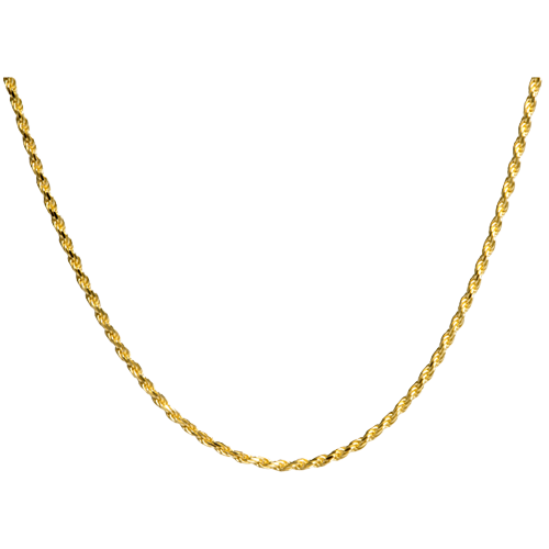 Gold-Plated 20 Inch Rope Chain