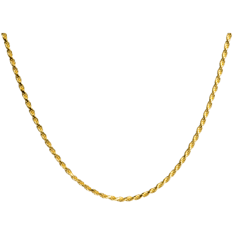 18 Inch Gold-Plated Rope Chain