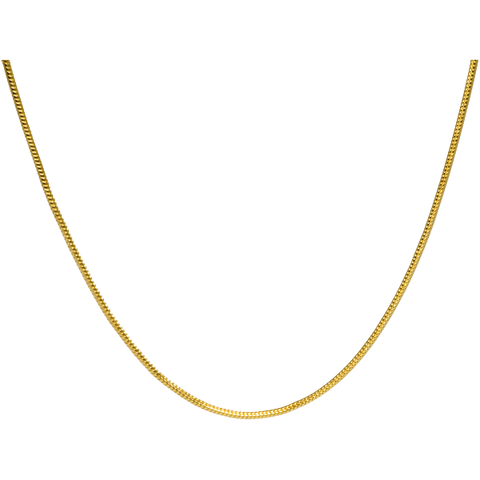 20 Inch Gold-Plated Snake Chain
