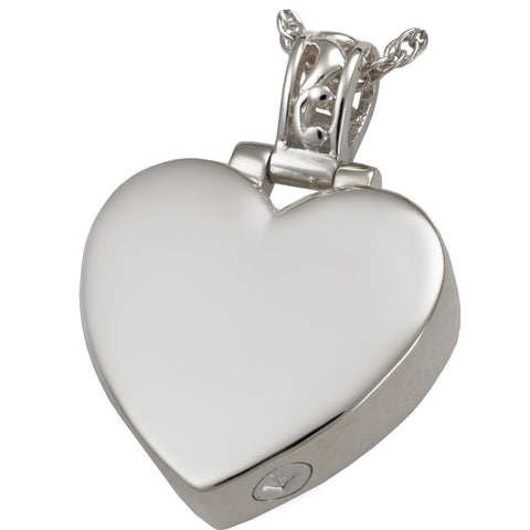 Filigree Bail Heart Cremation Pendant