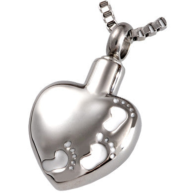 Footprints on My Heart Cremation Pendant