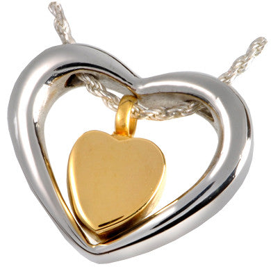 Heart of Gold Cremation Pendant