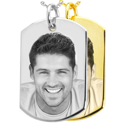 Photo Engraved Dog Tag Pendant