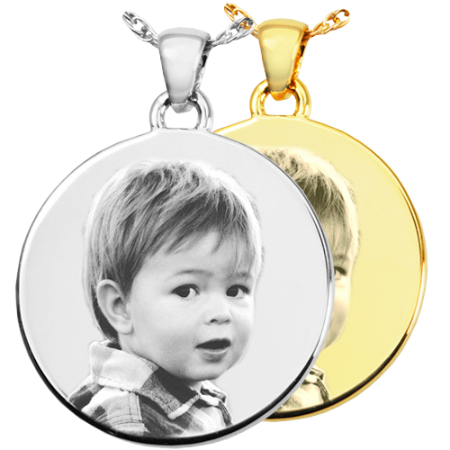Photo Engraved Round Pendant