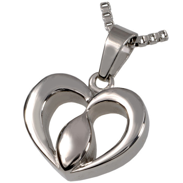 Tear of Love Heart Cremation Pendant