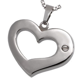 Affectionate Heart Cremation Pendant