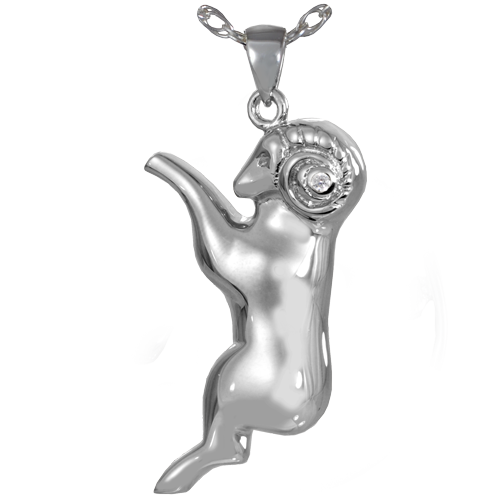 Aries Zodiac Cremation Pendant