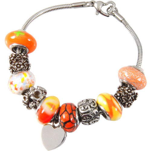sunset-orange-glass-remembrance-bead-bracelet-keepsake-jewellery-for-ashes-memorial
