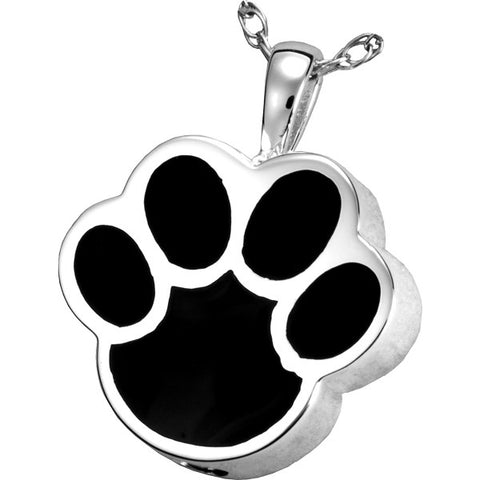 Black Paw Cremation Pendant