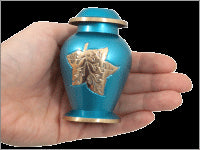 Blue Falling Leaves Urn Keepsake