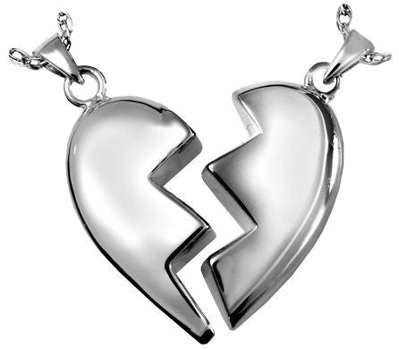 Broken Heart Cremation Pendant