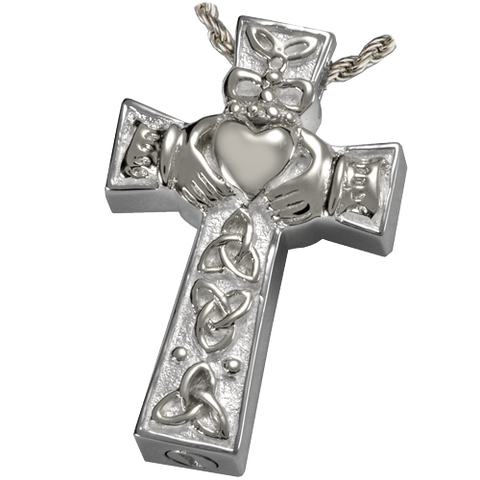 Claddagh Cross Cremation Pendant