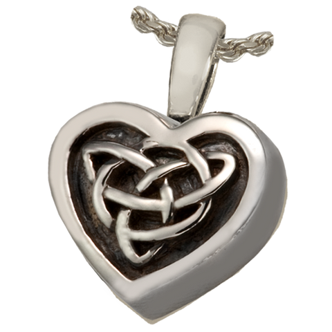 Celtic Heart Cremation Pendant
