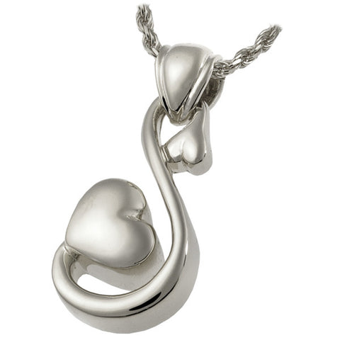 Endless Love Heart Cremation Pendant