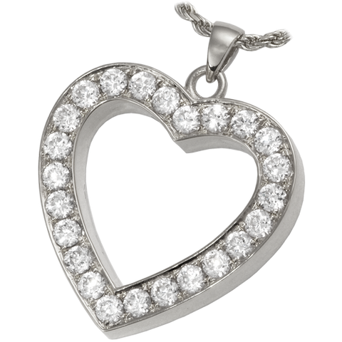 Eternal Love Heart Cremation Pendant
