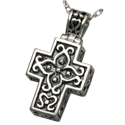 Filigree Cross Cremation Pendant