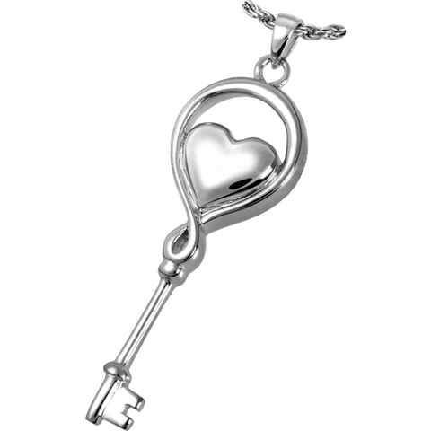 Key to my Heart Cremation Pendant