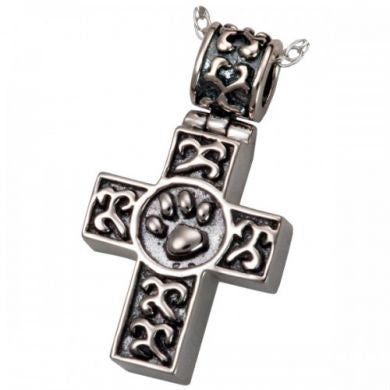 paw-print-cross-cremation-pendant-keepsake-jewellery-for-ashes-memorial