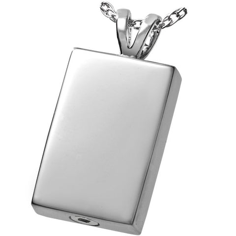 Perfect Rectangle Cremation Pendant