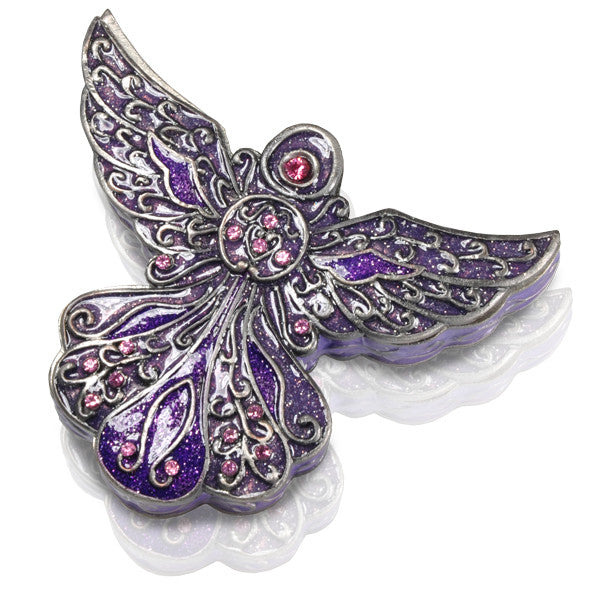 Purple Angel Keepsake Urn