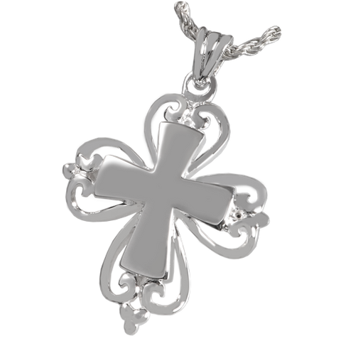 Romantic Cross Cremation Pendant